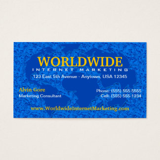 World / Global Business Card