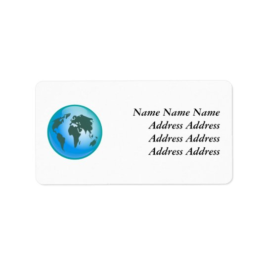 World Globe, Address Label
