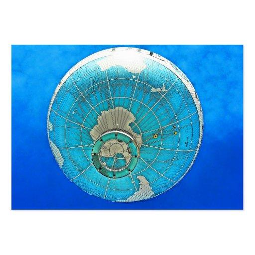 World Globe Balloon and Deep Blue Sky Business Card Template