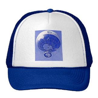 World Globe Balloon in Blue Mesh Hats