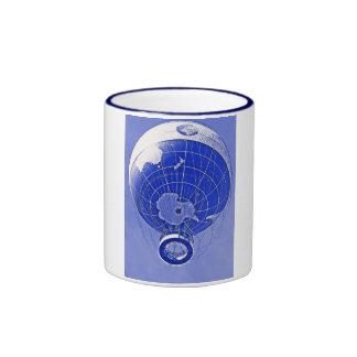 World Globe Balloon in Blue Mugs