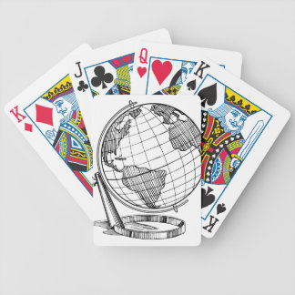 World Globe Bicycle Playing Cards