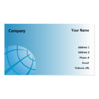 World Globe-Business Pack Of Standard Business Cards