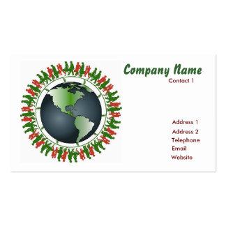 World Globe Business Card Template