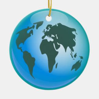 World Globe Ceramic Ornament