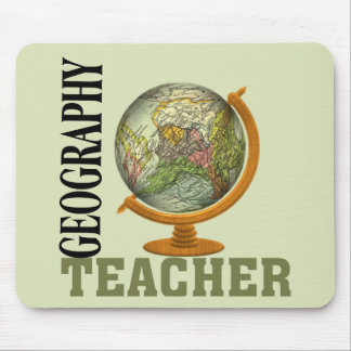 World Globe Geography Teacher Mouse Pad