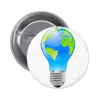 World globe light bulb concept buttons