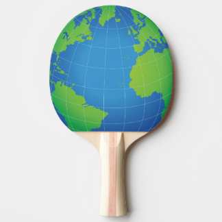 World Globe Map Ping Pong Paddle