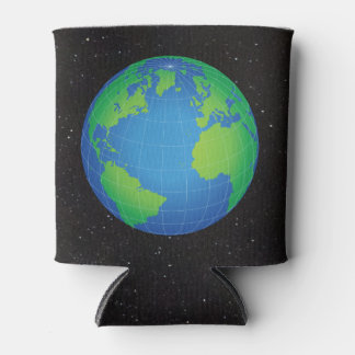 World Globe Map Starry Sky Can Cooler