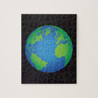 World Globe Map Starry Sky Jigsaw Puzzle
