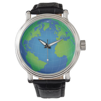 World Globe Map Watch