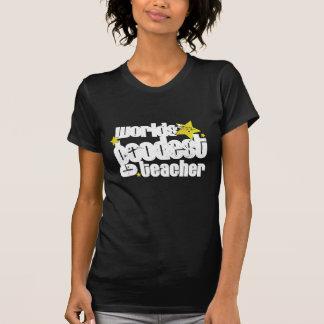 world' goodest teacher (distressed) tshirt