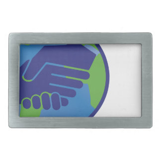 World Handshake Belt Buckles