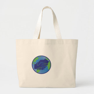 World Handshake Large Tote Bag