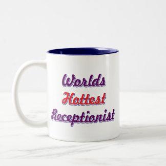 World Hottest Receptionist Two-Tone Coffee Mug
