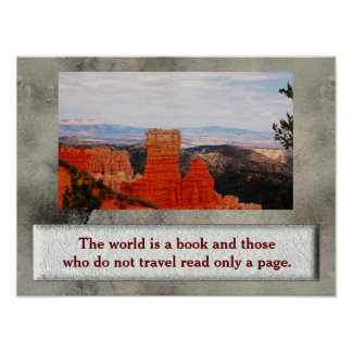 World is a book - poster