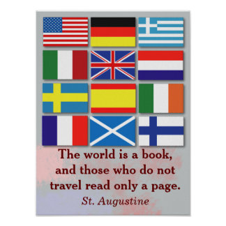 World is a book - St. Augustine Poster