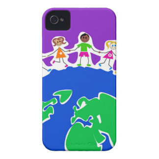 World Kids Drawing iPhone 4 Case