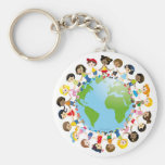 World kidz basic round button key ring