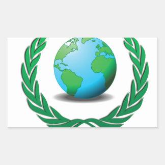 world leader rectangular sticker