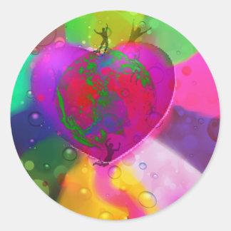 World likes diversity classic round sticker