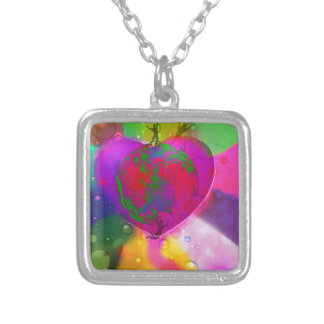 World likes diversity silver plated necklace