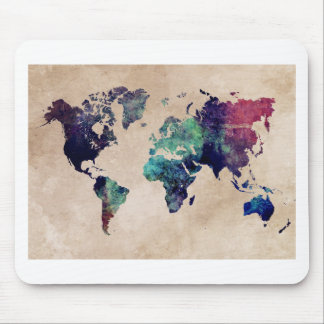 world map 10 mouse pad