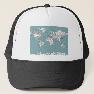 world map 10 trucker hat