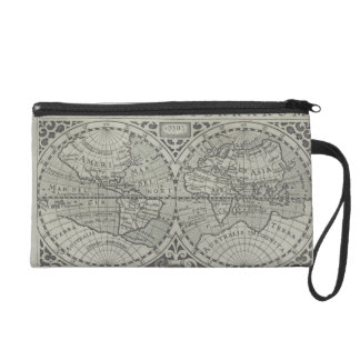 World Map 11 Wristlet Clutches