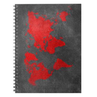 world map 11 notebook