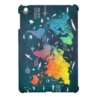 world map 12 iPad mini case