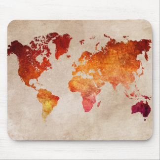 world map 13 mouse pad