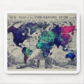 world map 15 mouse pad