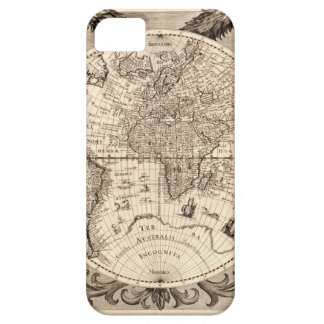 world map 1600 latin original black&white iPhone 5 cases