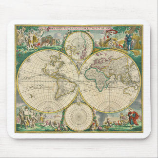 World Map 1670 Mouse Pad