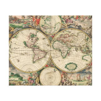 World Map 1671 Canvas Print
