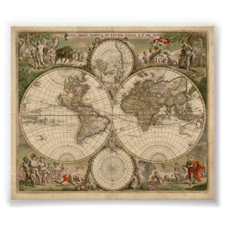World Map 1689 Print