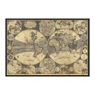 World Map (1702) Canvas Prints