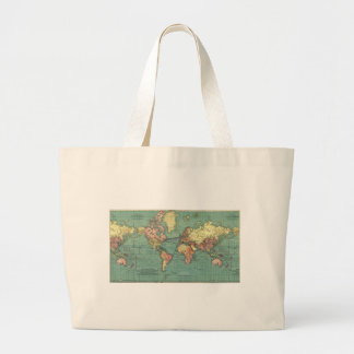 World map 1919 canvas bags