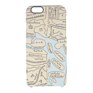 WORLD MAP 2ND CENTURY CLEAR iPhone 6/6S CASE
