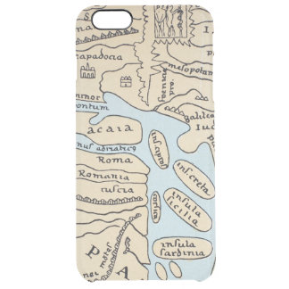 WORLD MAP 2ND CENTURY CLEAR iPhone 6 PLUS CASE