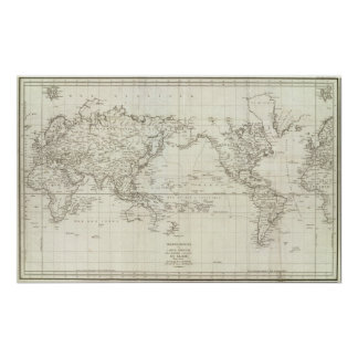 World Map 6 Poster