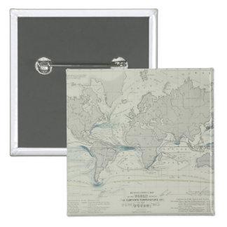 World Map 7 15 Cm Square Badge