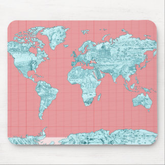 world map 7 mouse pad