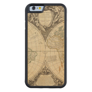 World Map 8 Carved Maple iPhone 6 Bumper Case
