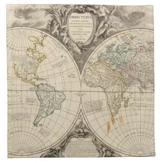 World Map 8 Napkin