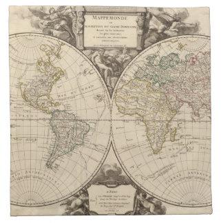 World Map 9 Napkin