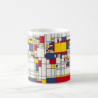 World Map Abstract Mondrian Style Mug