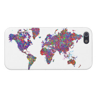 World Map, Action Painting iPhone 5/5S Cases