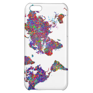 World Map, Action Painting iPhone 5C Cases